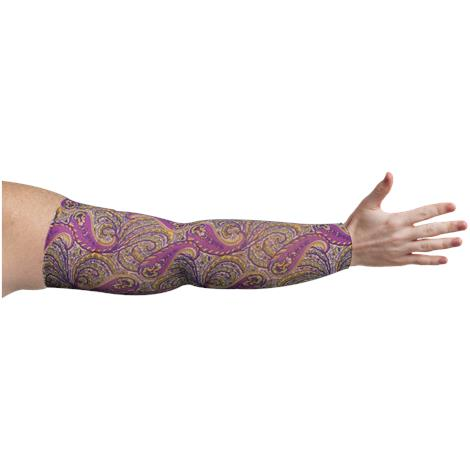 LympheDivas Purple Paisley Compression Arm Sleeve