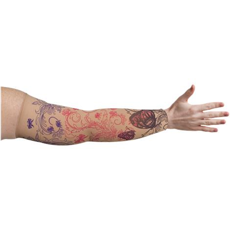 LympheDivas Mariposa Beige Compression Arm Sleeve