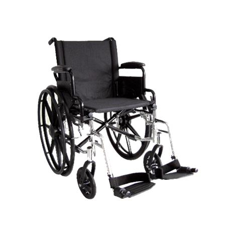 ITA-MED 18 Inch Lightweight Wheelchair with Height Adjustable Back WR18-400