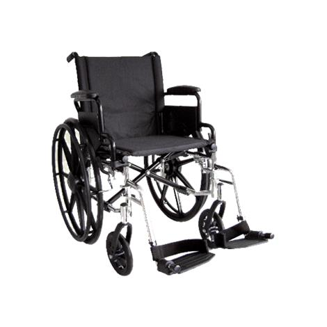 ITA-MED 20 Inch Lightweight Wheelchair with Height Adjustable Back WR20-300