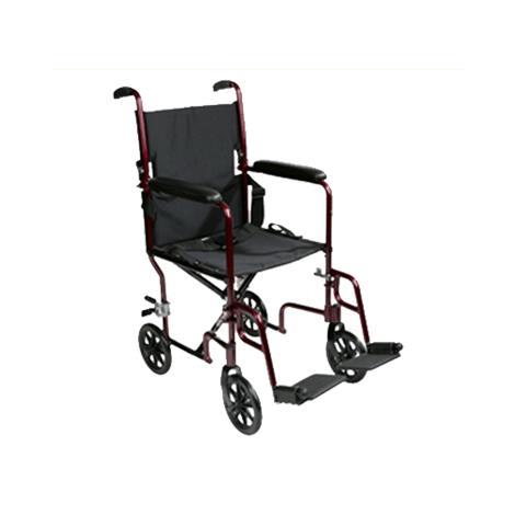 ITA-MED 19 Inch Transport Wheelchair