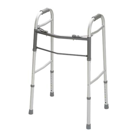 Guardian Two Button Folding Walker Without Wheels