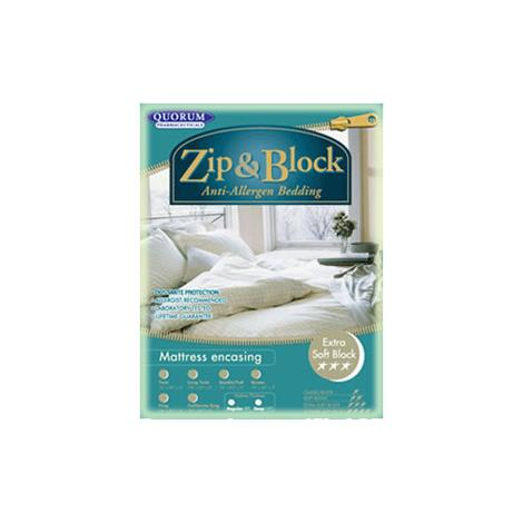 Zip and Block Extra Soft Block Anti-Allergen Encasing