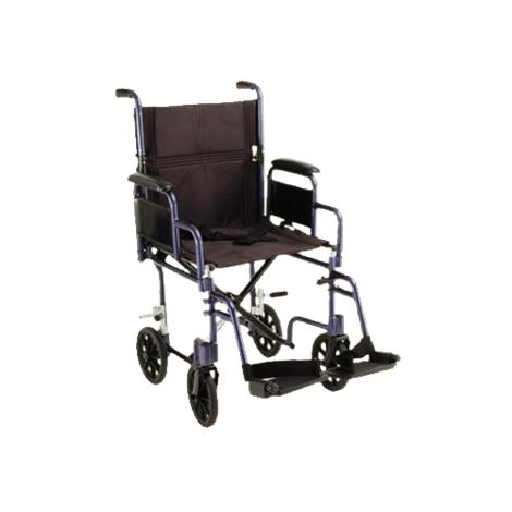 Nova Medical 19 Inches Lightweight Transport Chair With Detachable Desk Arm And Swing Away Footrests