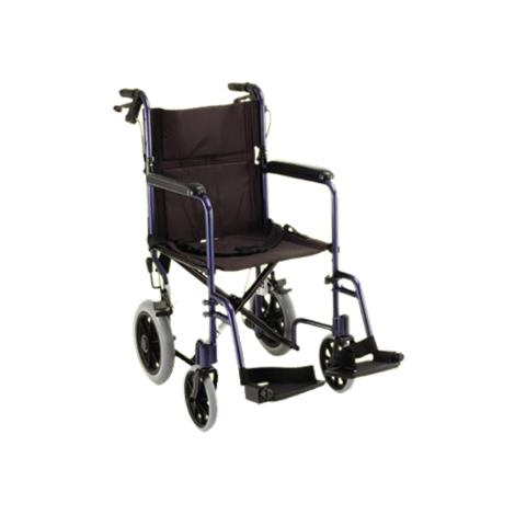 Buy Nova Medical 19 Inches Lightweight Transport Chair With Hand Brakes And Swing Away Footrests
