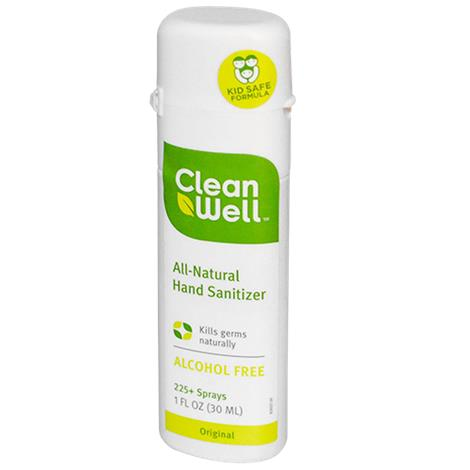 CleanWell All Natural Alcohol-Free Hand Sanitizer Spray