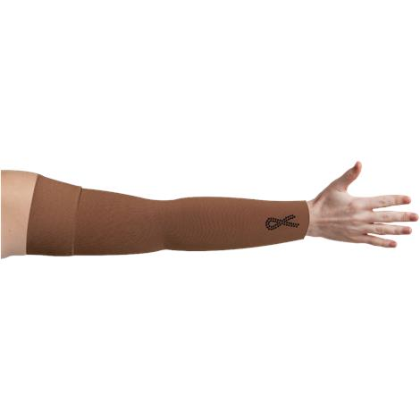 LympheDivas Mocha With Crystal Ribbon Compression Arm Sleeve