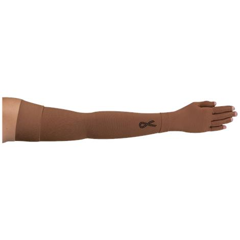 LympheDivas Mocha With Crystal Ribbon Compression Arm Sleeve And Glove