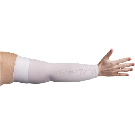 LympheDivas White With Crystal Swirl Compression Arm Sleeve
