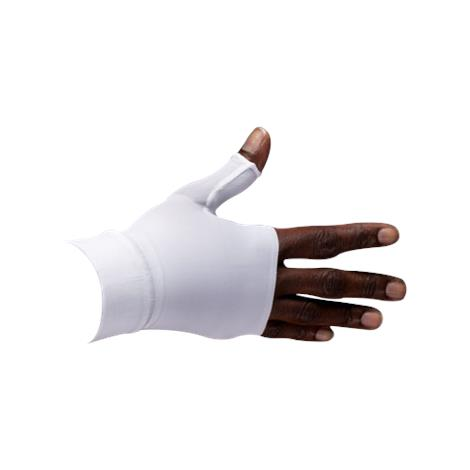 LympheDivas White With Crystal Ribbon Compression Gauntlet