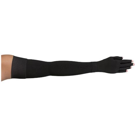 LympheDivas Onyx With Crystal Ribbon Compression Arm Sleeve And Glove