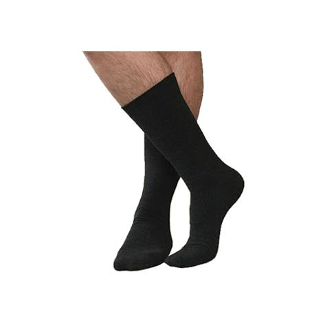 Therafirm SmartKnit Coolmax Seamless Black Diabetic Crew Socks