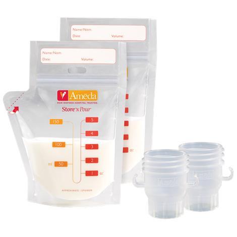 Ameda Store N Pour Breast Milk Storage Bags Starter Kit