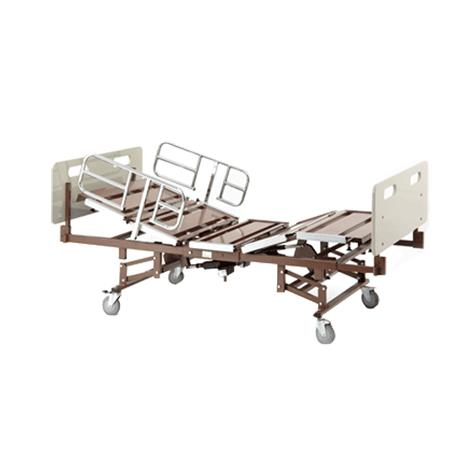 Invacare Bariatric Full Electric Bed with Half Rails and Expandable Mattress