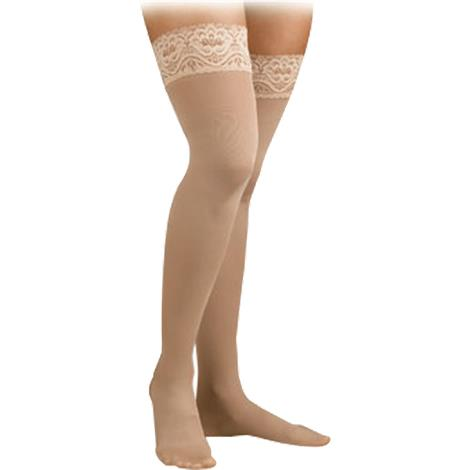 FLA Activa Soft Fit Large Thigh High 20-30mmHg Stockings With Lace Top