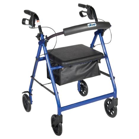 Drive Aluminum Rollator with Fold Up and Removable Back Support