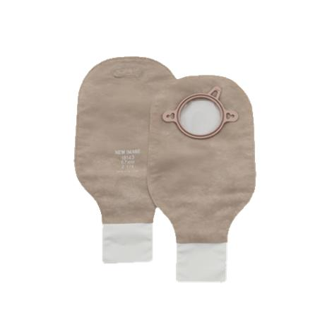 Hollister New Image Two-Piece Standard Wear Beige Drainable Pouch With Clamp Closure and Filter