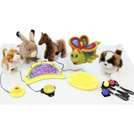 Fuzzy Friends Stimulus Plush Toy Set And Switches Kit