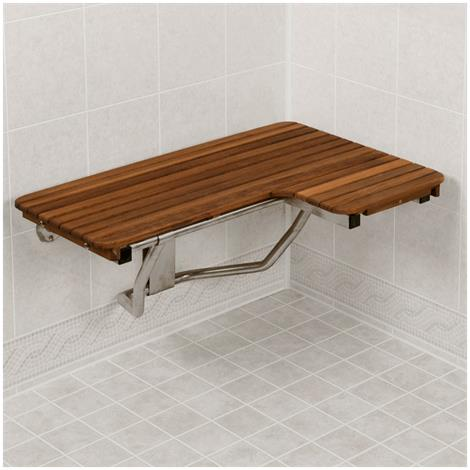 Buy Teakworks4u ADA L-Shaped Wall Mount Plantation Teak Transfer Seat
