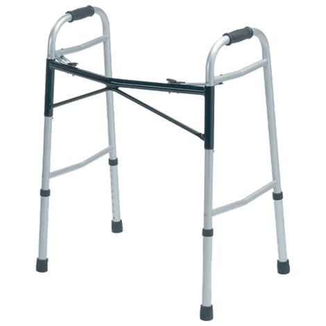 Medline Premium Bariatric Two-Button Folding Walker