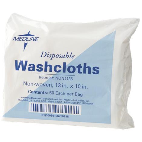 Medline Non-Woven Disposable Washcloths