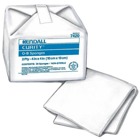 Covidien Curity 100% Cotton O-B Sponges
