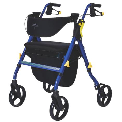 Medline Empower Deluxe Four-Wheel Folding Rollator