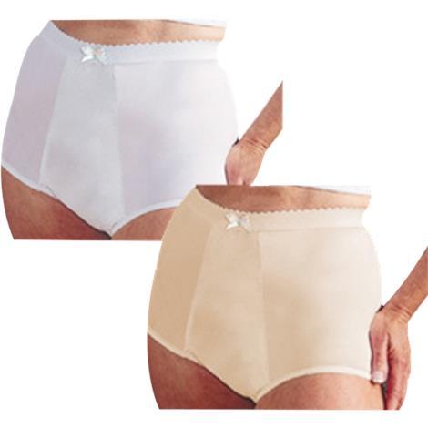 Salk HealthDri Fancies Nylon Heavy-White Panty