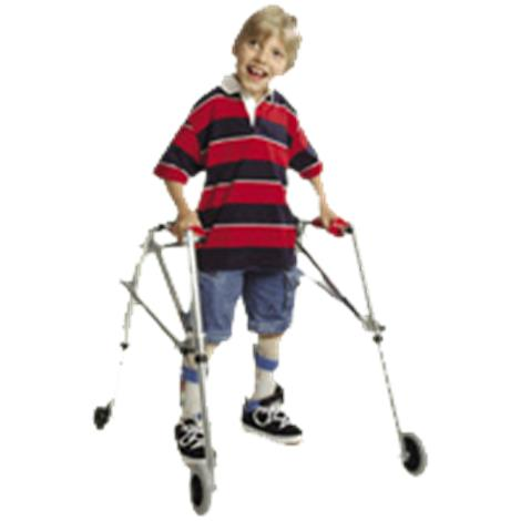 Kaye Posture Control Four Wheel Walker With Installed Silent Rear Wheel For Pre Adolescent