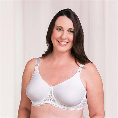 Trulife 4008 Audrey Seamless Lace Accent Underwire Mastectomy Bra