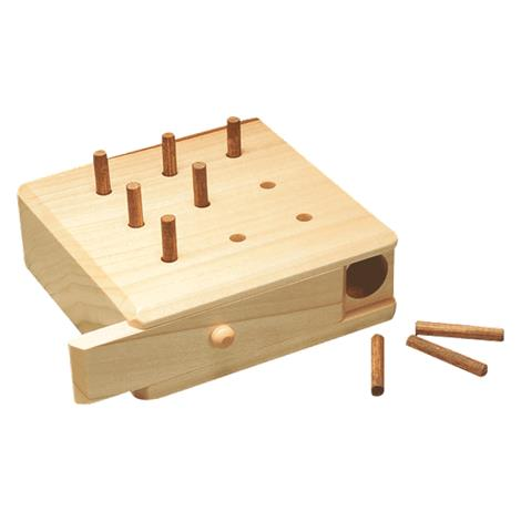 9 Hole Hardwood Pegboard Game | Peg Boards