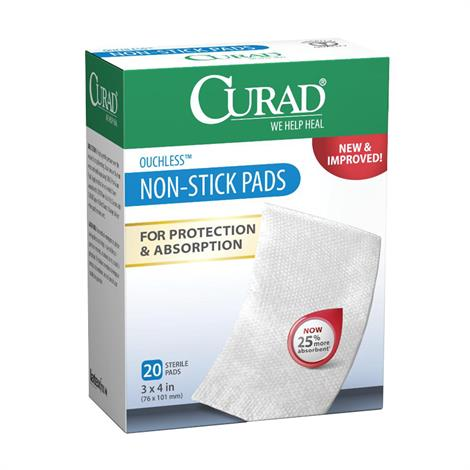 Medline Curad Ouchless Sterile Non-Stick Pad