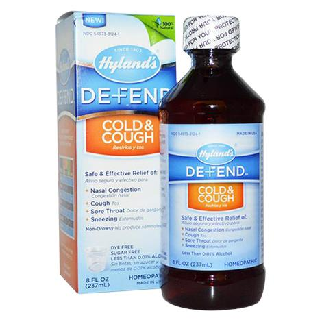 Hylands Defend Cold And Cough Relief Liquid