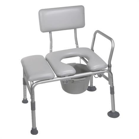 Drive Knock Down Combination Padded Transfer Bench and Commode