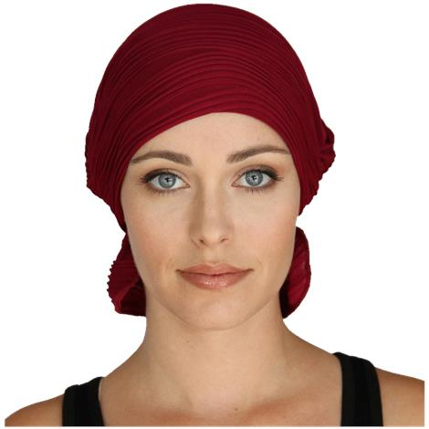 Chemo Beanies Denise Currant Wavy Knit Ruffle