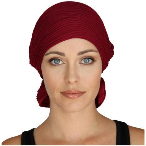 Chemo Beanies Denise Currant Wavy Knit Ruffle
