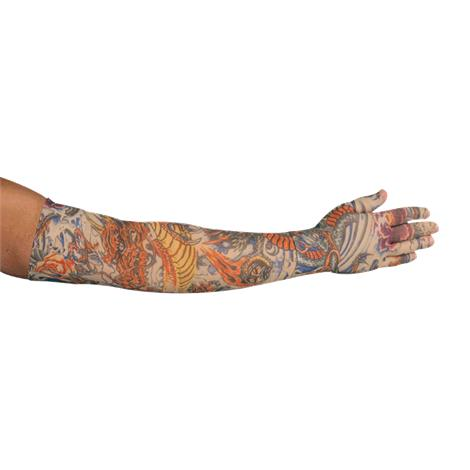 LympheDudes Lotus Dragon Tattoo Compression Arm Sleeve And Glove