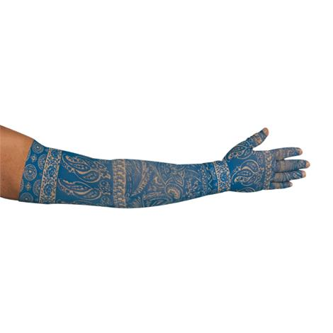 LympheDudes Blue Bandit Compression Arm Sleeve And Glove