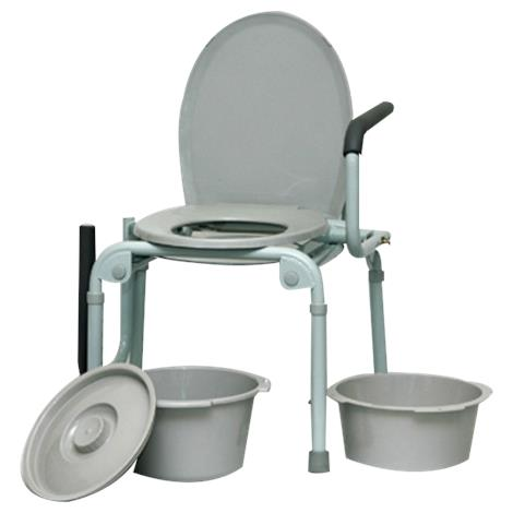 Invacare Powder Coated Drop Arm Steel Commode