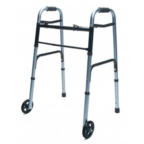 Graham Field Lumex Everyday Adult Walker with 5 Inch Wheels Dual Release