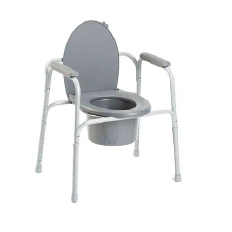 Invacare I-Class All-In-One Gray Coated Steel Commode