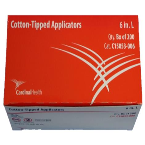Cardinal Health Cotton Tip Applicator With Wood Handle