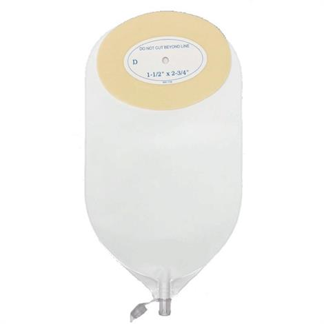 Nu-Hope Oval Cut-to-Fit Post-Operative Adult Urinary Pouch with Flutter Valve