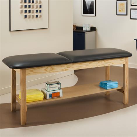 Clinton ETA Classic Series Treatment Table with Shelf