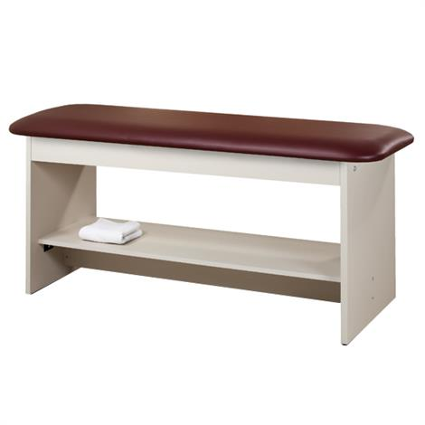 Clinton Flat Top Style Line Straight Line Treatment Table with Full Shelf