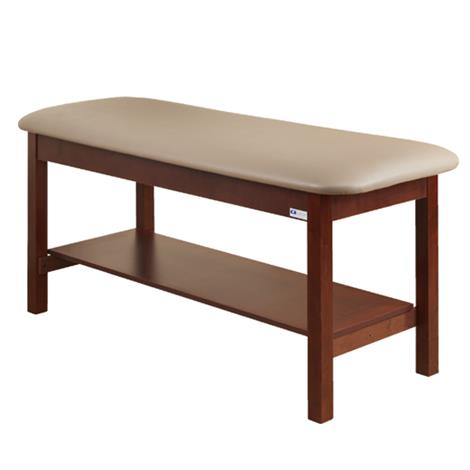 Clinton Flat Top Classic Series Straight Line Treatment Table with Full Shelf