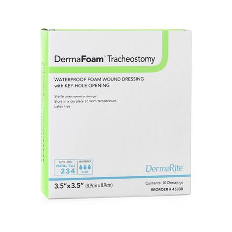 Buy DermaRite DermaFoam Tracheostomy Foam Dressing