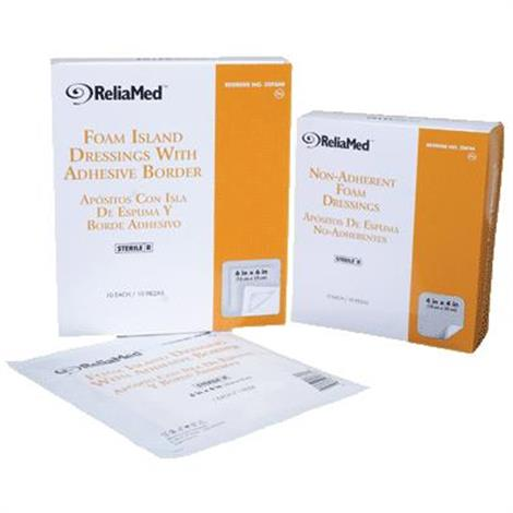 Buy ReliaMed Adhesive Border Foam Dressing with Film Backing