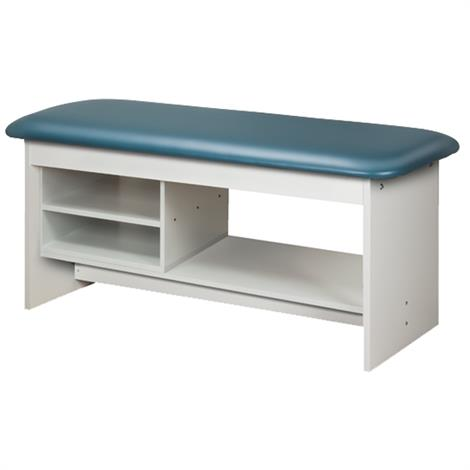 Clinton Flat Top Style Line Straight Line Treatment Table with Shelving