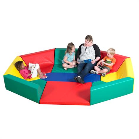 Childrens Factory Soft Octagonal Rainbow Hollow Seating